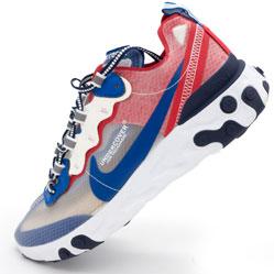 Кроссовки Nike React 87 Undercover синие с красным. Топ качество!