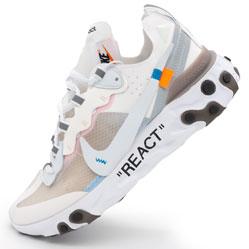 фото Кроссовки Nike React 87 Undercover белые с серым. Топ качество!