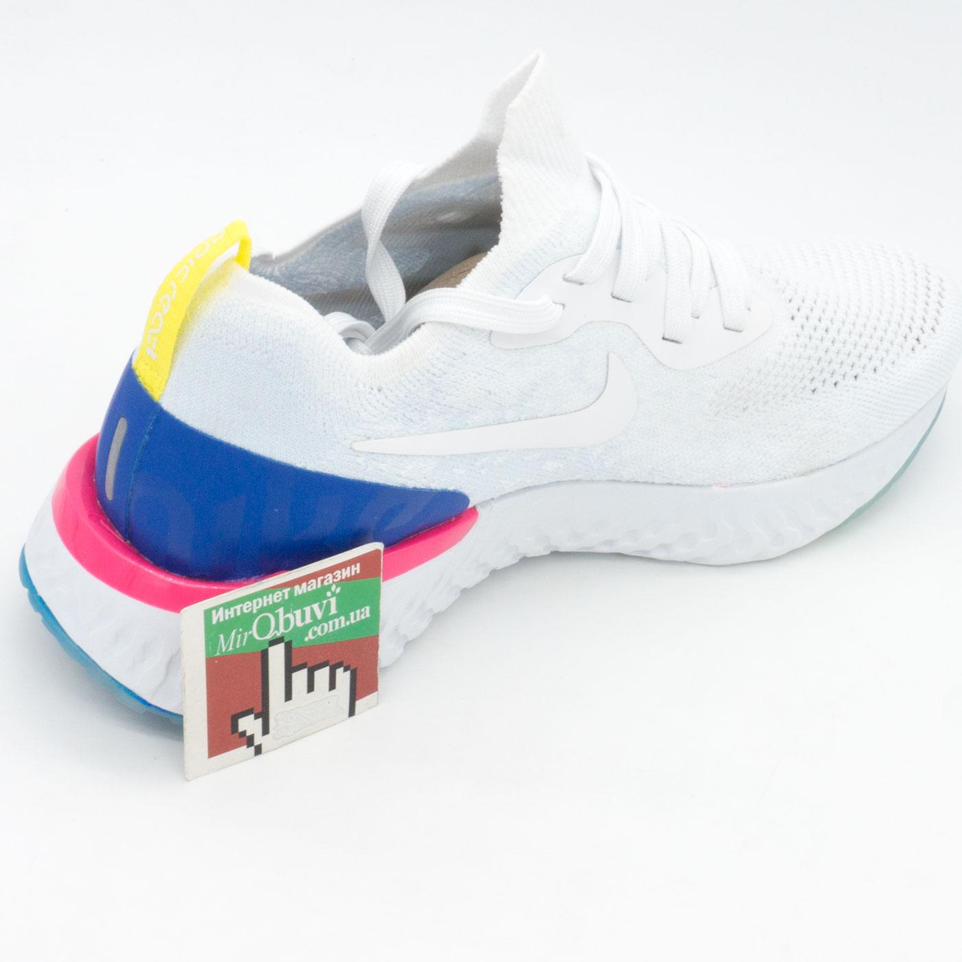 фото back Кроссовки для бега Nike Epic React Flyknit белые. Топ качество! back