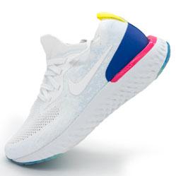 Кроссовки для бега Nike Epic React Flyknit белые. Топ качество!