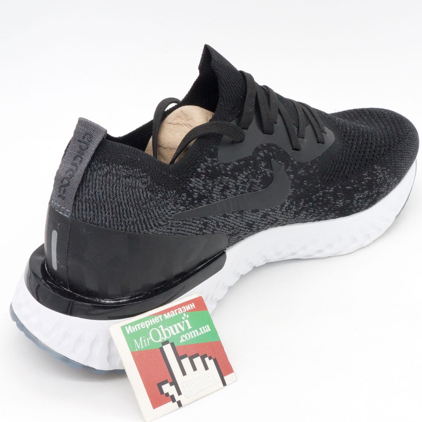 фото back Мужские кроссовки для бега Nike Epic React Flyknit черно-белые. Топ качество! back