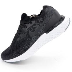 Мужские кроссовки для бега Nike Epic React Flyknit черно-белые. Топ качество!