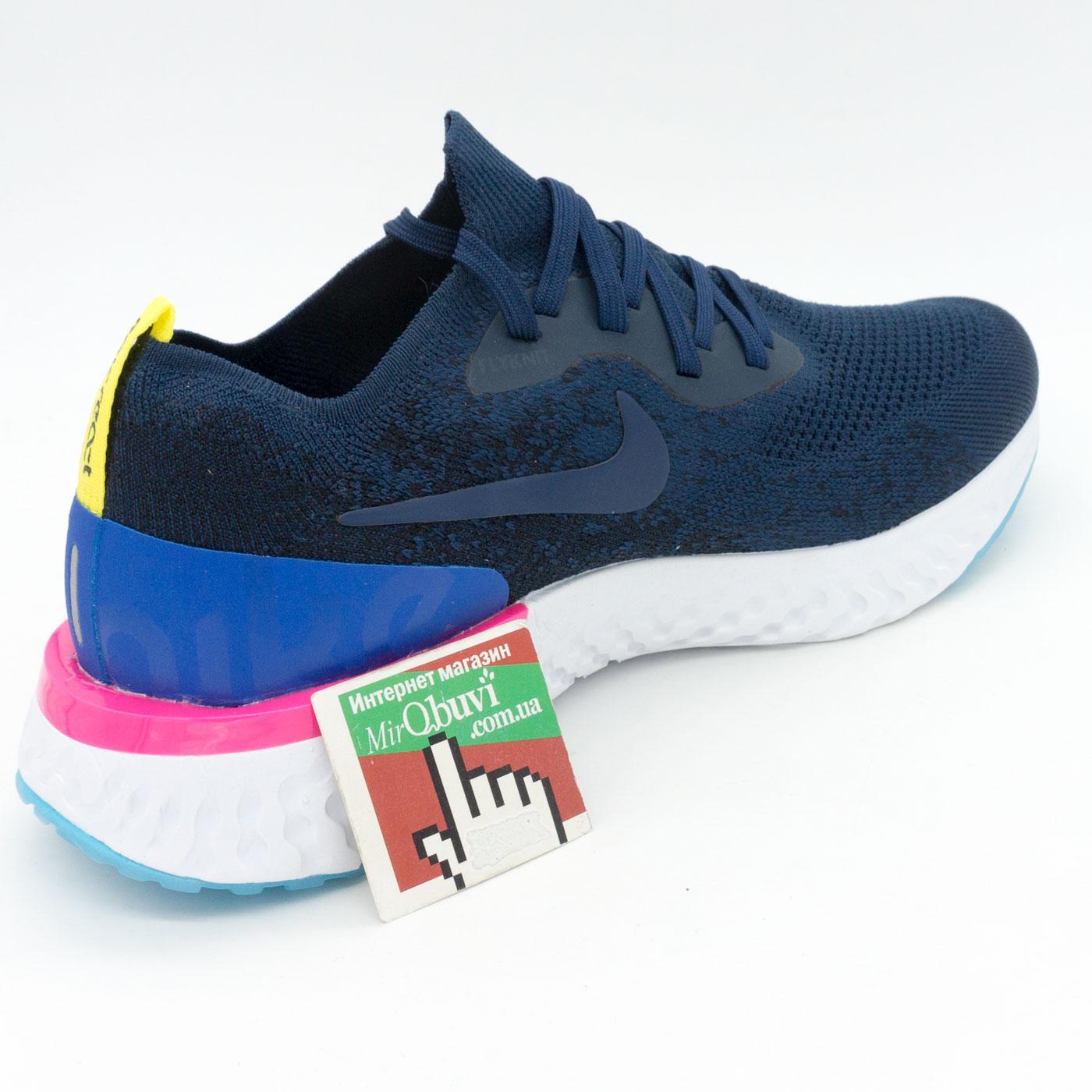 фото back Мужские кроссовки для бега Nike Epic React Flyknit синие. Топ качество! back