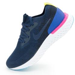 Мужские кроссовки для бега Nike Epic React Flyknit синие. Топ качество!