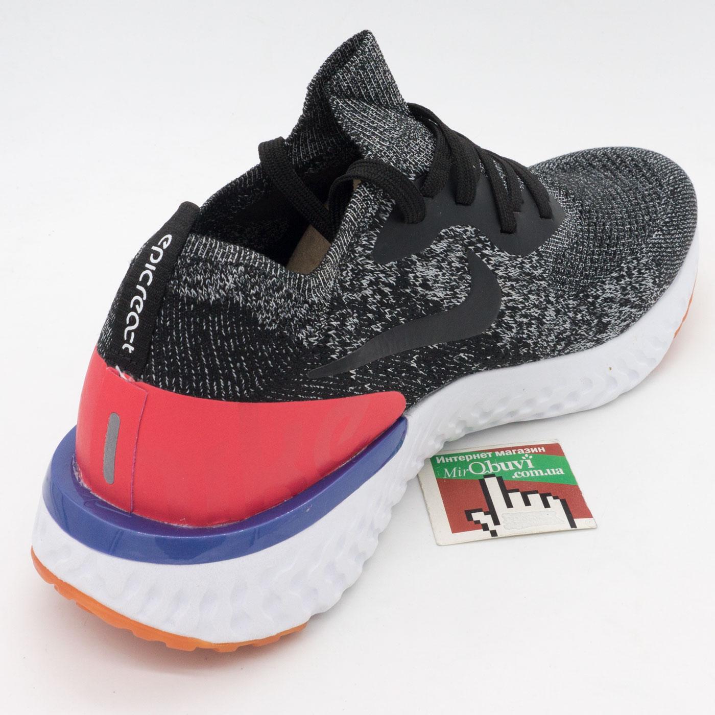 фото back Мужские кроссовки для бега Nike Epic React Flyknit зебра. Топ качество! back