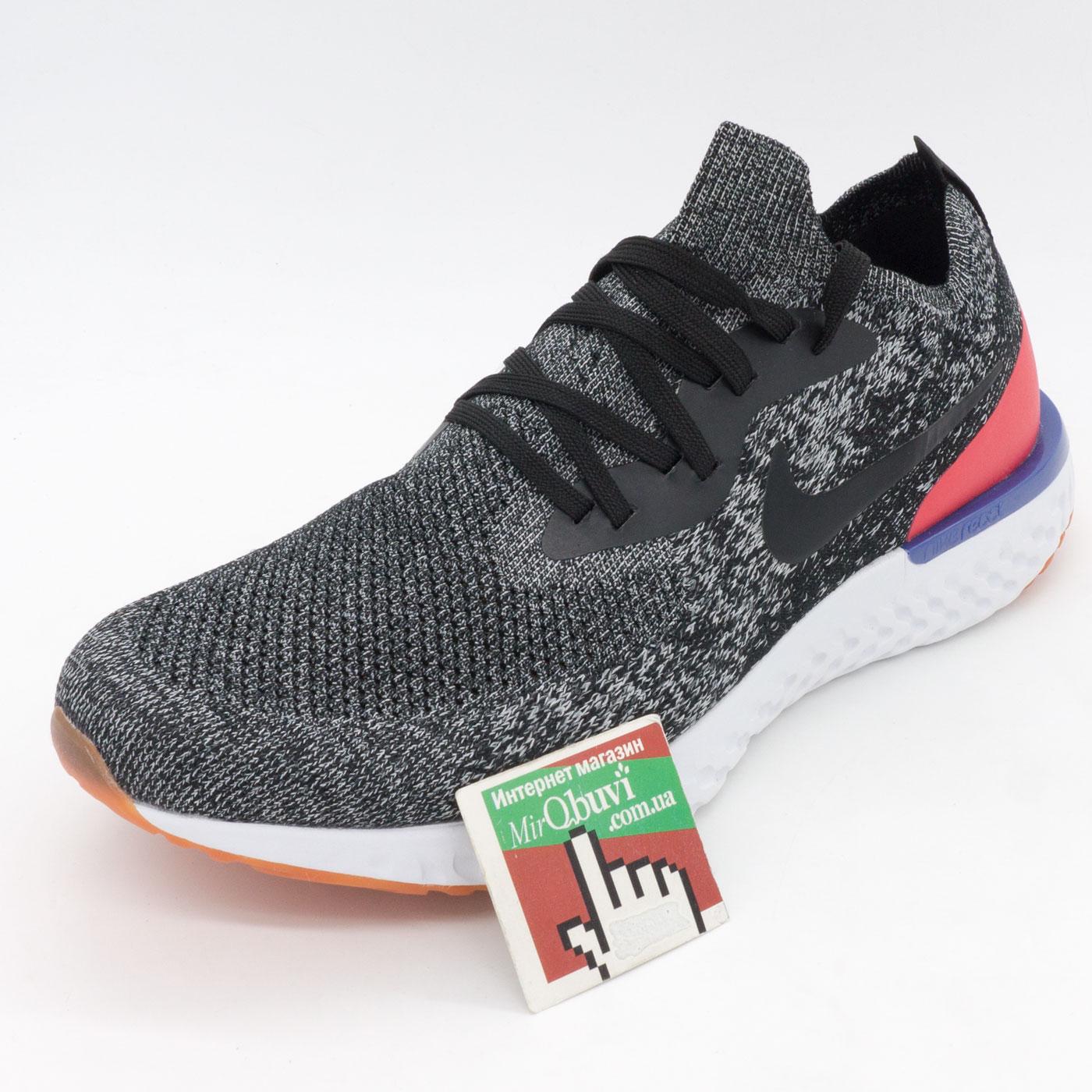 фото front Мужские кроссовки для бега Nike Epic React Flyknit зебра. Топ качество! front