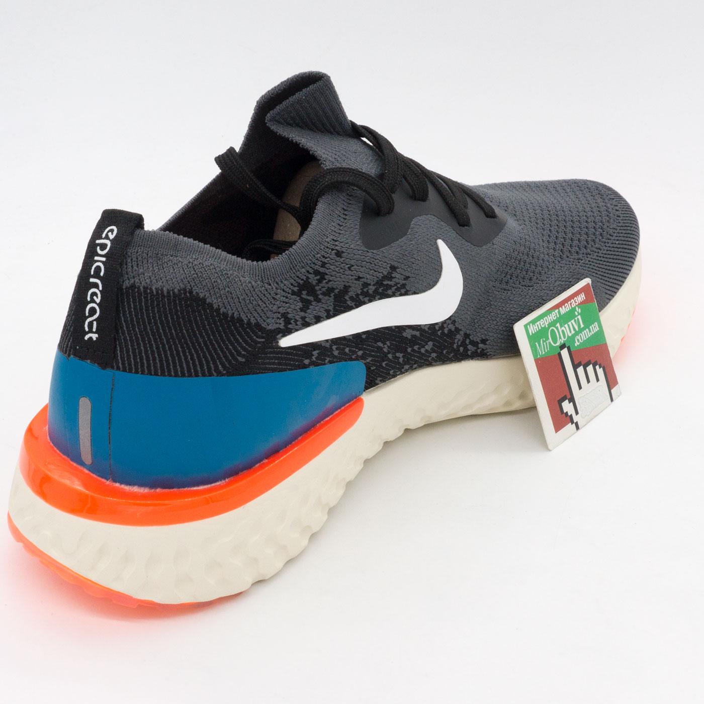 фото back Мужские кроссовки для бега Nike Epic React Flyknit пепел. Топ качество! back
