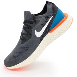Мужские кроссовки для бега Nike Epic React Flyknit пепел. Топ качество!