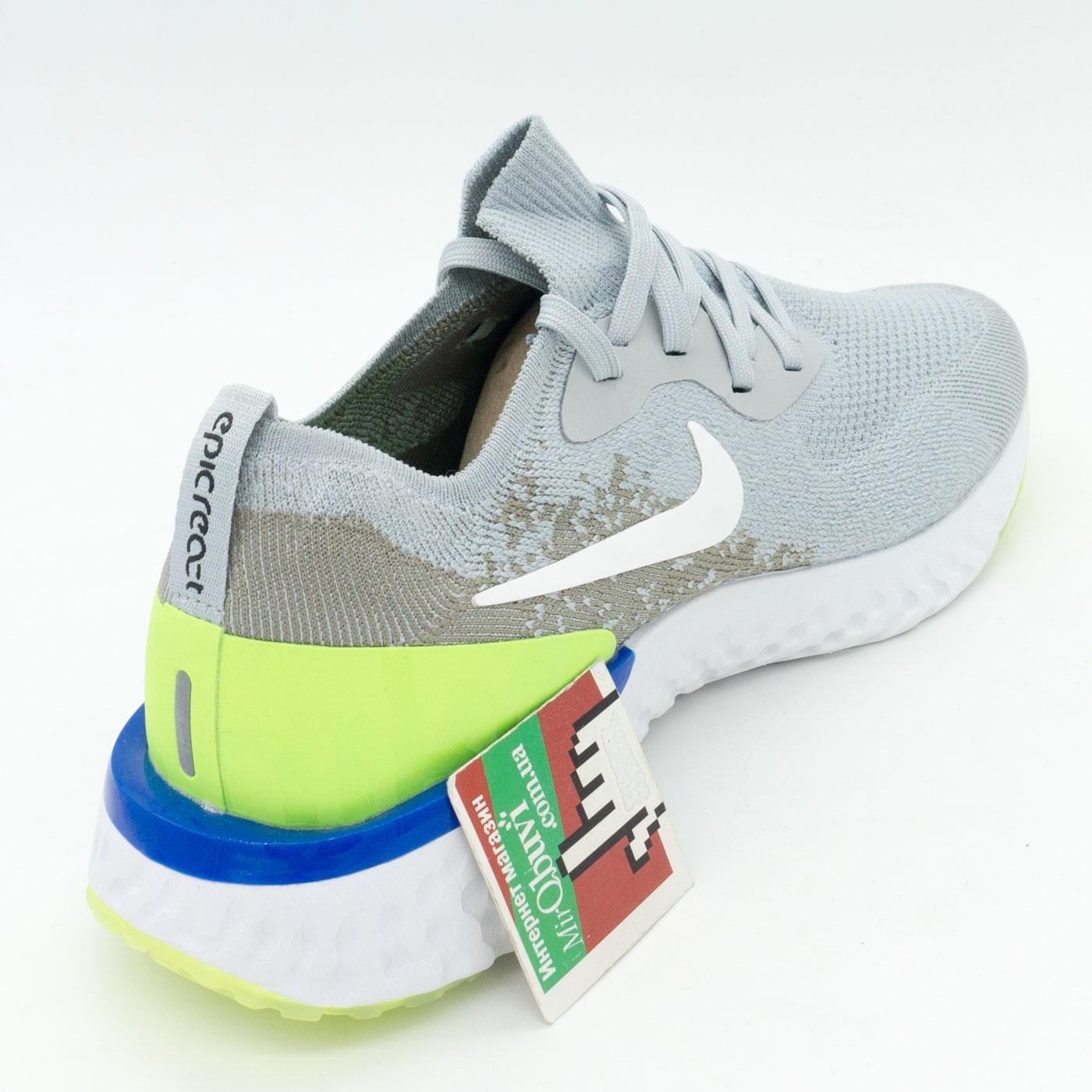 фото back Мужские кроссовки для бега Nike Epic React Flyknit серые. Топ качество! back