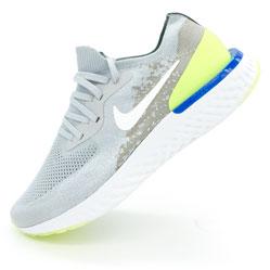 Мужские кроссовки для бега Nike Epic React Flyknit серые. Топ качество!
