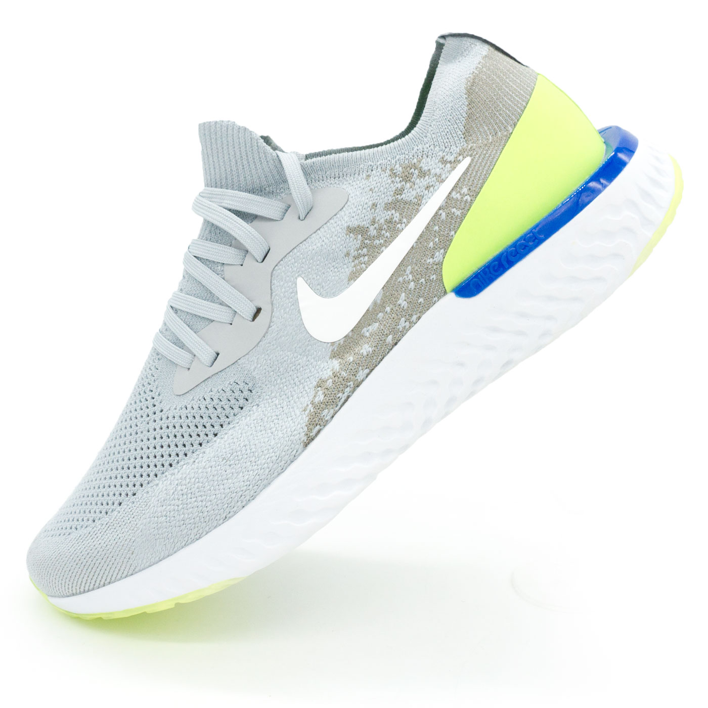фото main Мужские кроссовки для бега Nike Epic React Flyknit серые. Топ качество! main