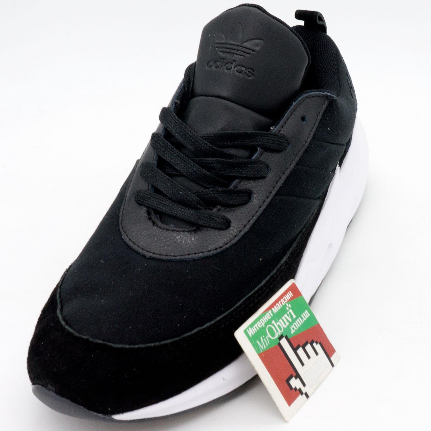 фото front Мужские кроссовки Adidas Sharks черно-белые. Топ качество! front