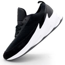 Мужские кроссовки Adidas Sharks черно-белые. Топ качество!