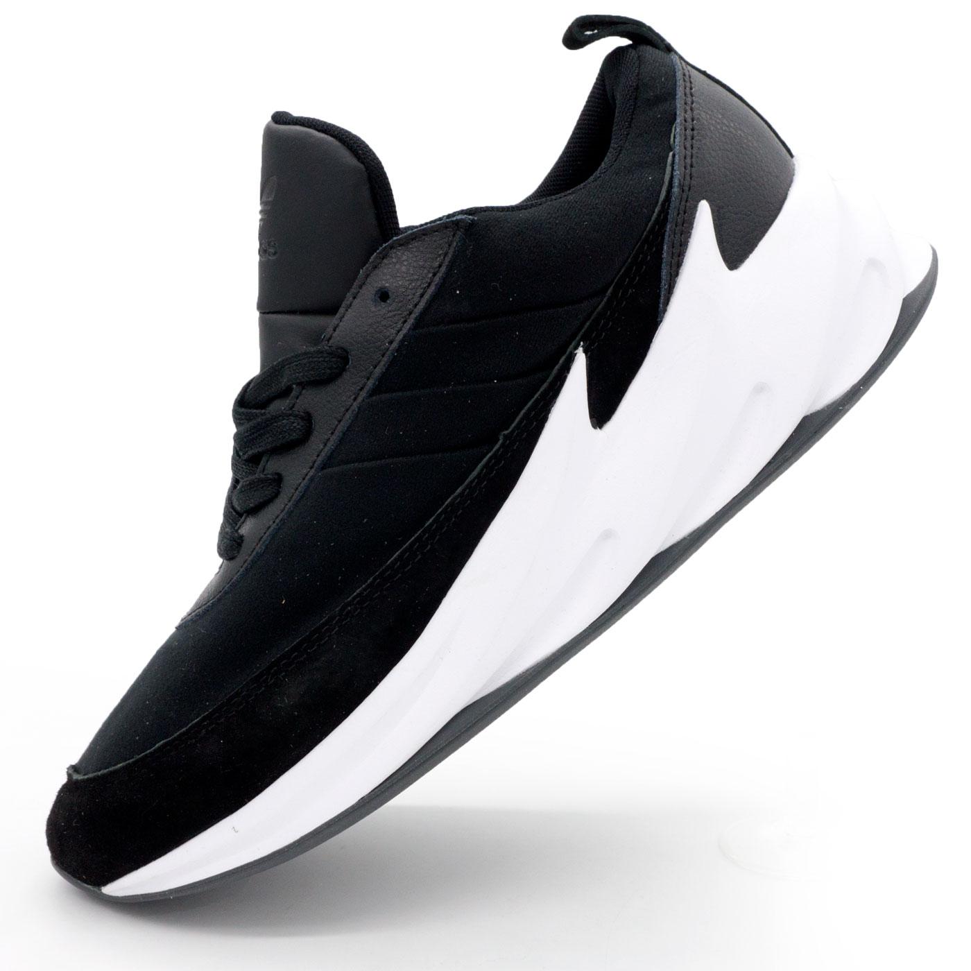 фото main Мужские кроссовки Adidas Sharks черно-белые. Топ качество! main