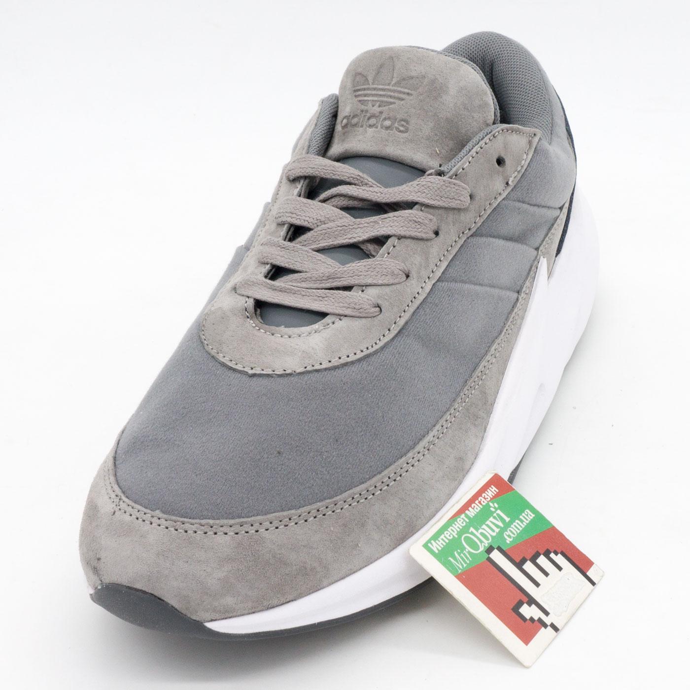 фото front Мужские кроссовки Adidas Sharks серые. Топ качество! front