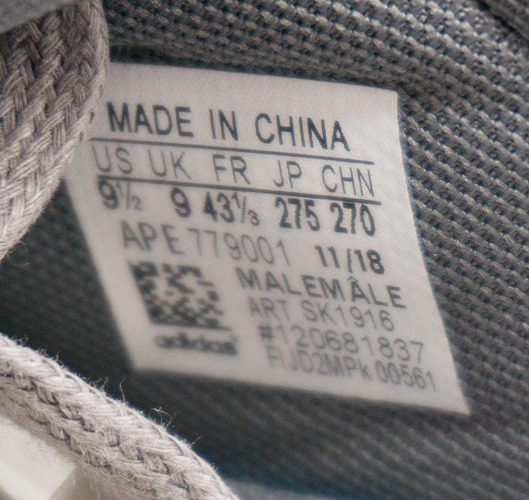 большое фото №5 Мужские кроссовки Adidas Sharks серые. Топ качество!