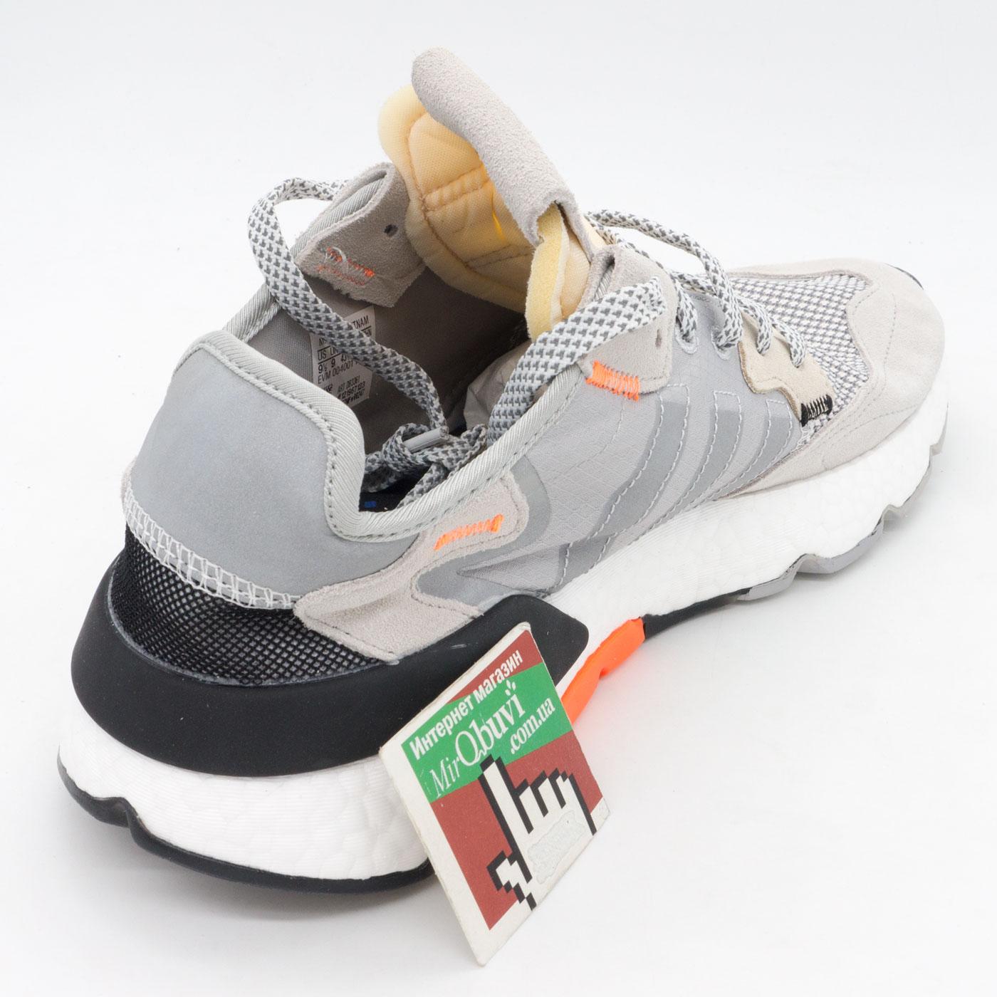 фото back Мужские кроссовки Adidas Nite Jogger серые. Топ качество! back