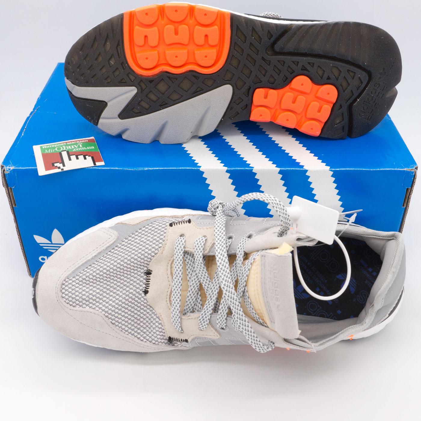 фото bottom Мужские кроссовки Adidas Nite Jogger серые. Топ качество! bottom