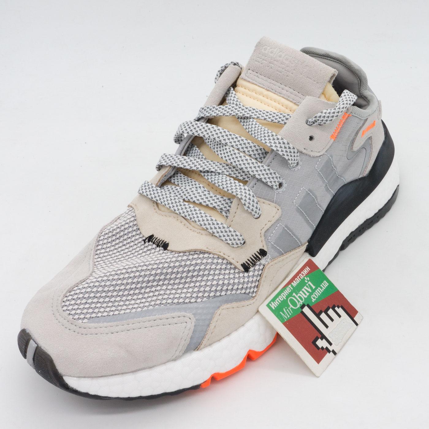 фото front Мужские кроссовки Adidas Nite Jogger серые. Топ качество! front