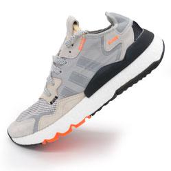 Мужские кроссовки Adidas Nite Jogger серые. Топ качество!