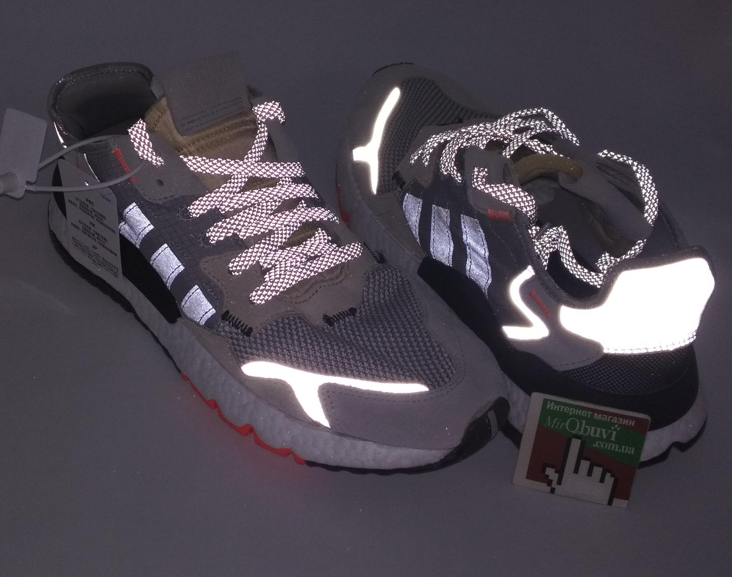 большое фото №5 Мужские кроссовки Adidas Nite Jogger серые. Топ качество!