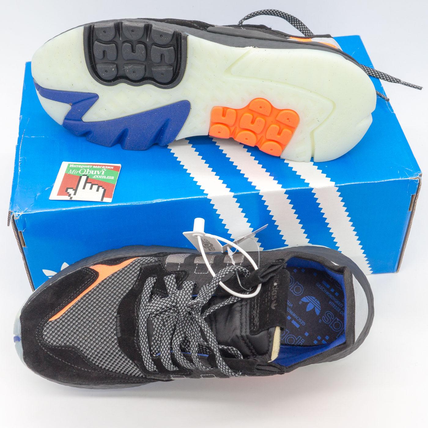 фото bottom Мужские кроссовки Adidas Nite Jogger черные. Топ качество! bottom
