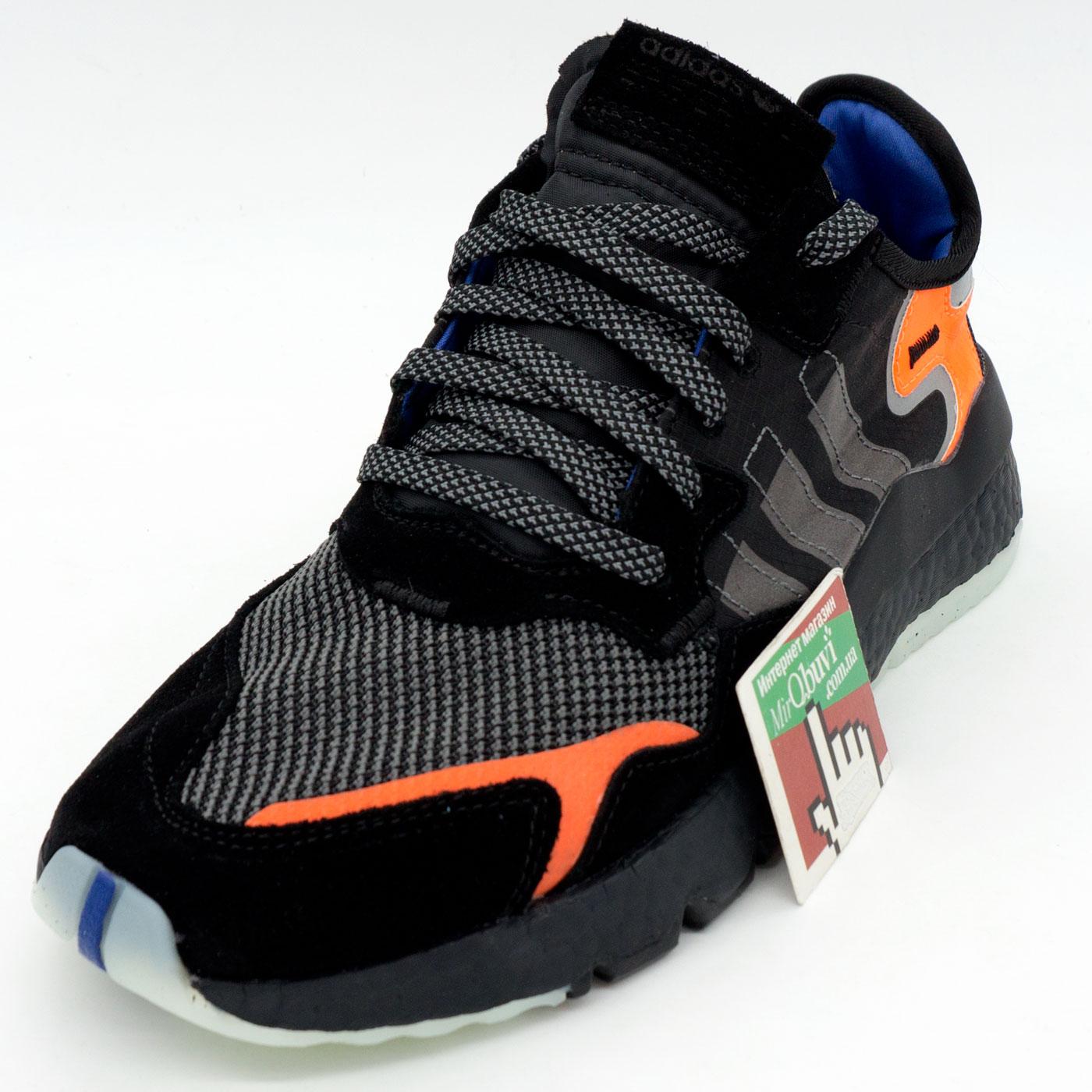 фото front Мужские кроссовки Adidas Nite Jogger черные. Топ качество! front
