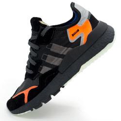 Мужские кроссовки Adidas Nite Jogger черные. Топ качество!