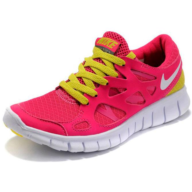 фото back Nike Free Run 2 443815-617 розовые с зеленым back