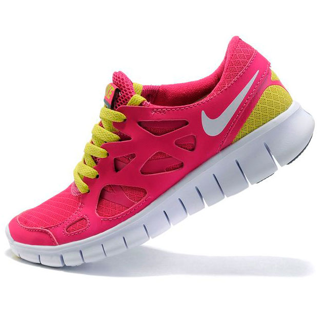 фото bottom Nike Free Run 2 443815-617 розовые с зеленым bottom