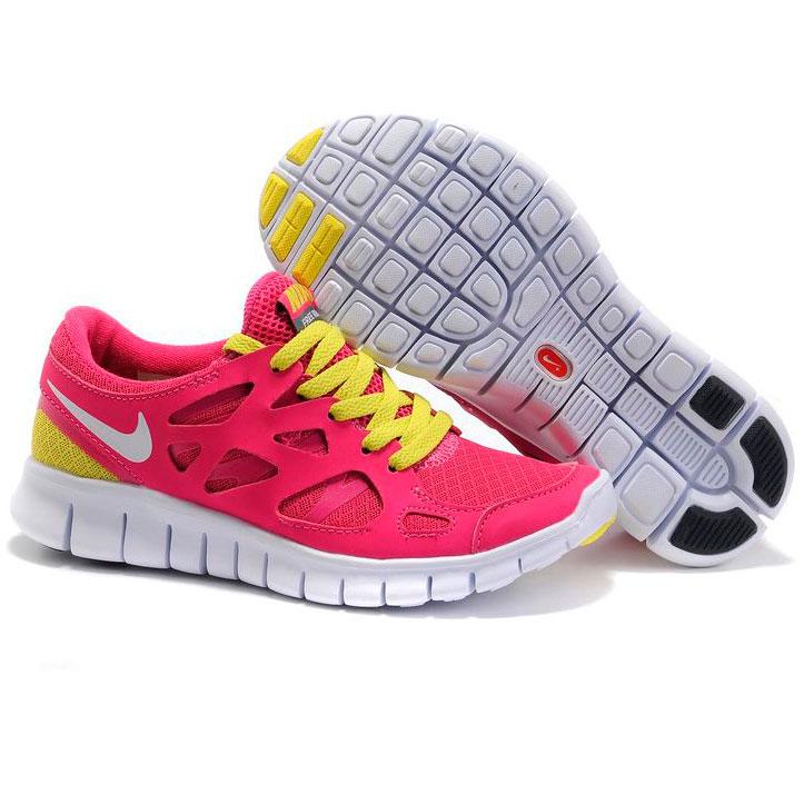 фото front Nike Free Run 2 443815-617 розовые с зеленым front