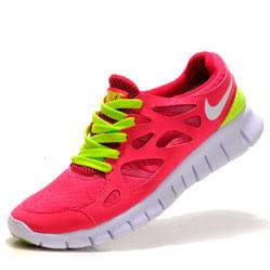 Nike Free Run 2 443815-617 розовые с зеленым