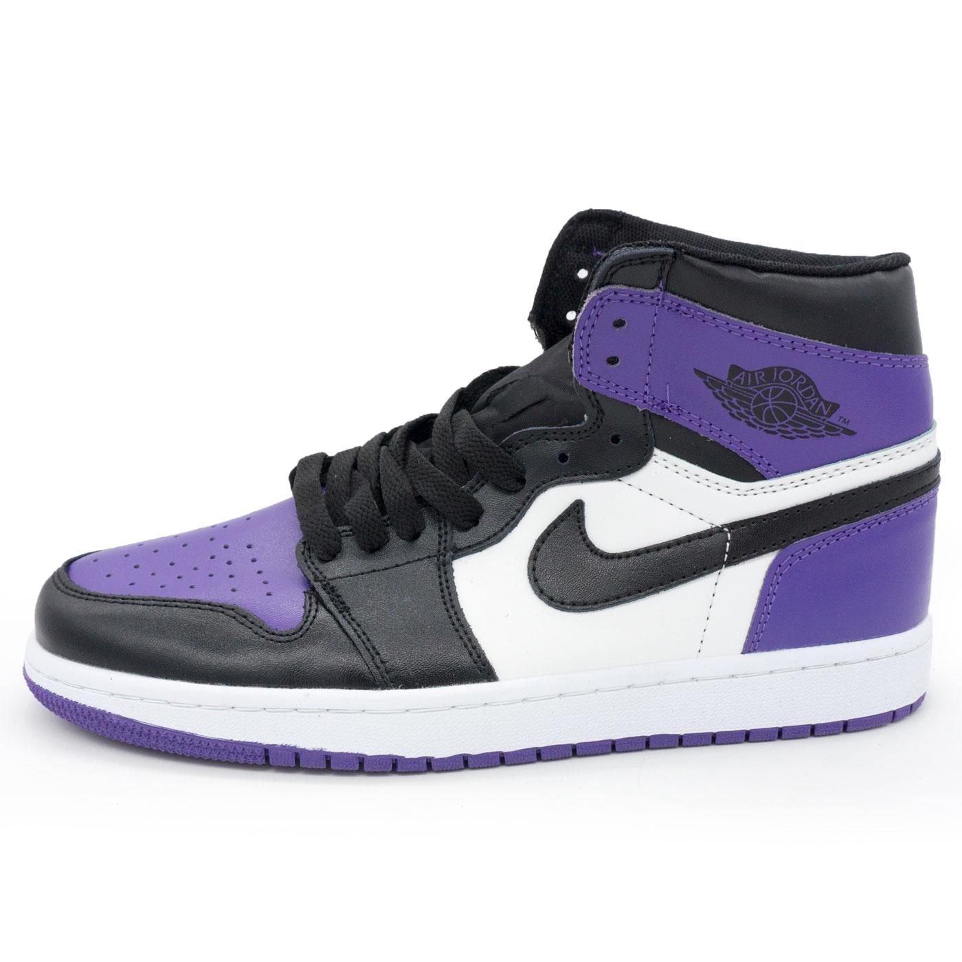 фото main Высокие черные c фиолетовым кроссовки Nike Air Jordan 1 . Топ качество! main
