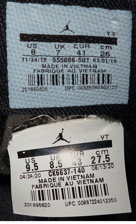 большое фото №6 Высокие черные c фиолетовым кроссовки Nike Air Jordan 1 . Топ качество!