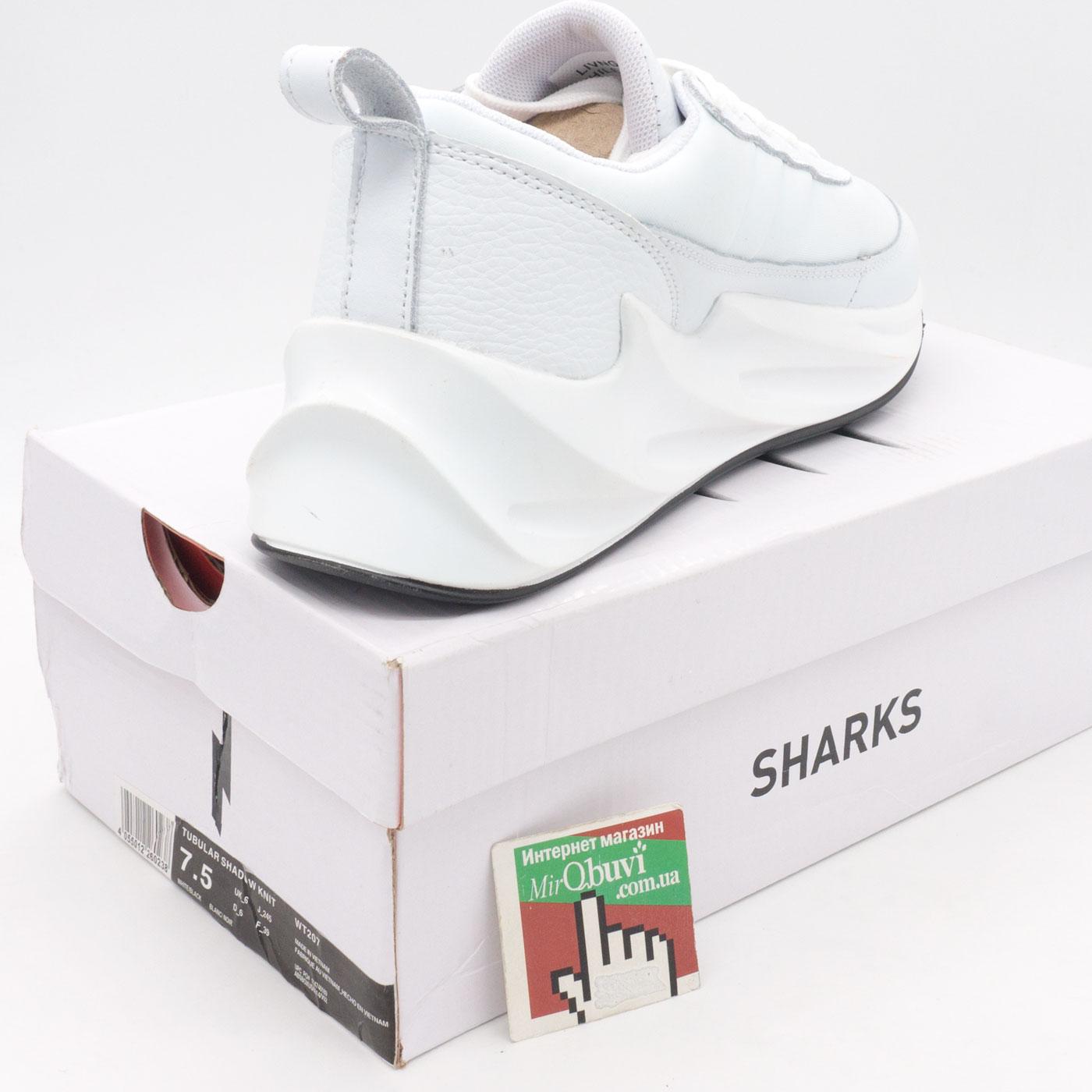 фото bottom Женские кроссовки Adidas Sharks белые. bottom
