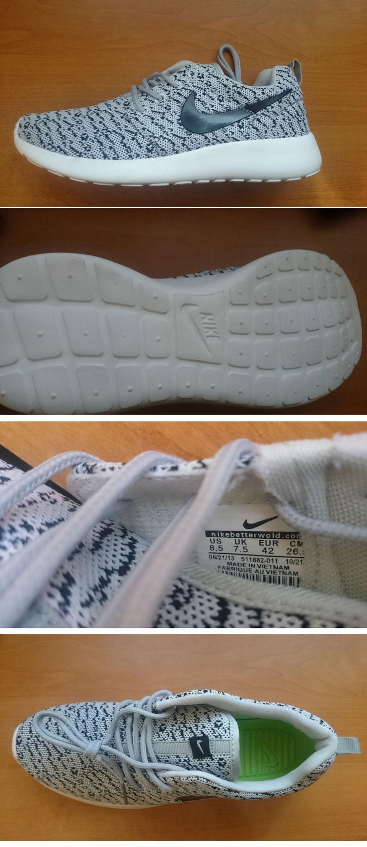 большое фото №6 Кроссовки Nike Roshe Run зебра. Топ качество!!!