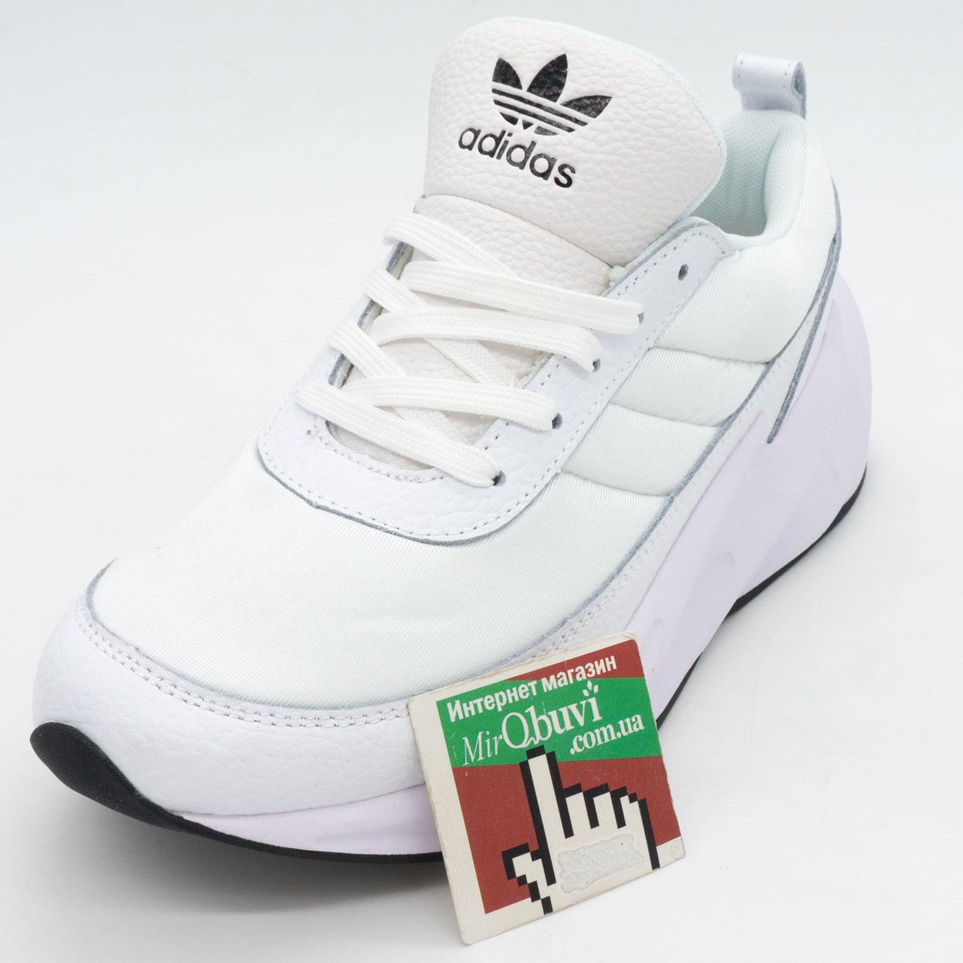 фото front Женские кроссовки Adidas Sharks белые. Топ качество! front