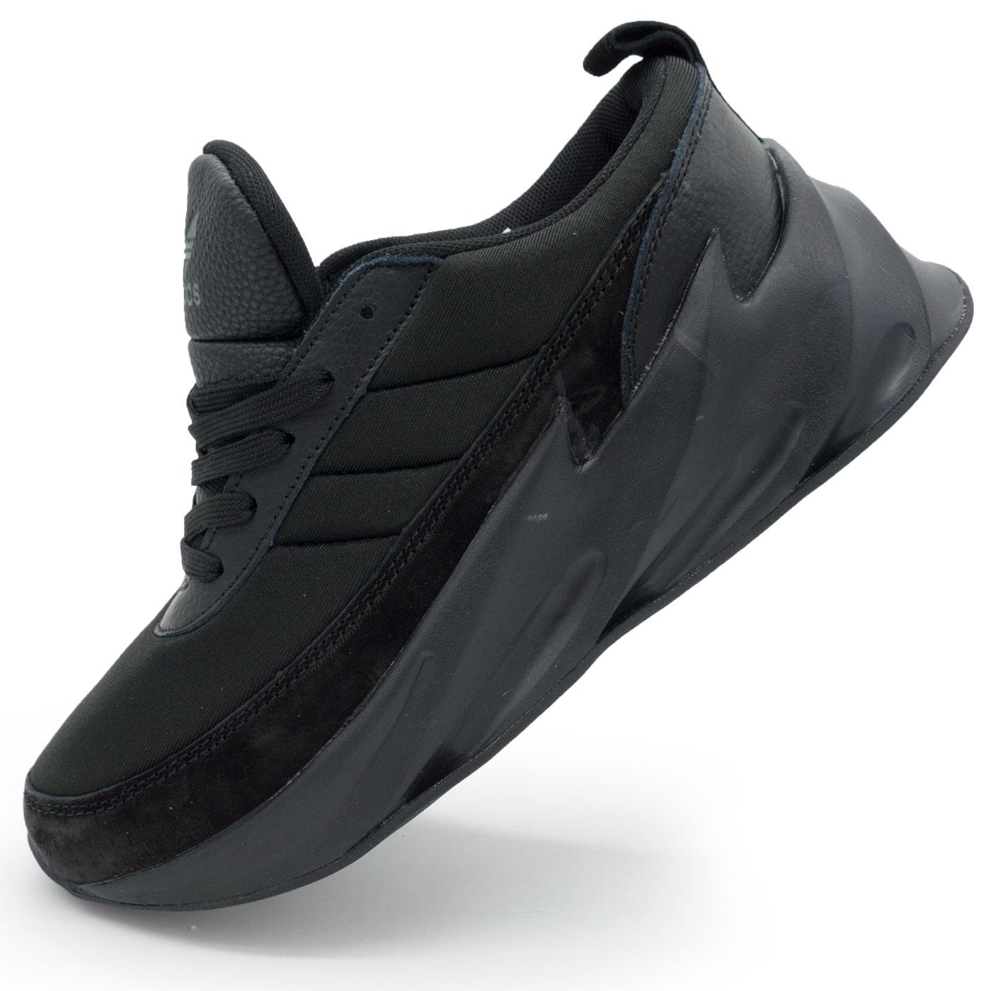 фото main Женские кроссовки Adidas Sharks полностью черно. Топ качество! main