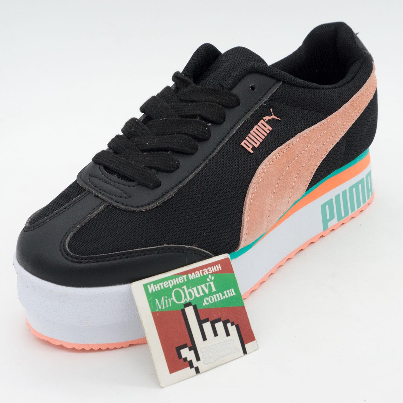 фото front Женские кроссовки Puma Pialdqom Tiger черные. Топ качество! front