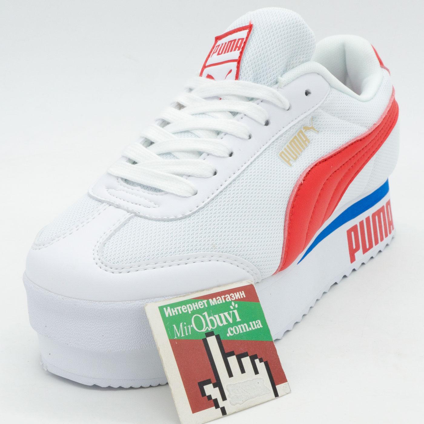 фото front Женские кроссовки Puma Pialdqom Tiger белые. Топ качество! front