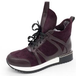 Зимние высокие кроссовки LICCI B453-H2493-2 фиолетовый