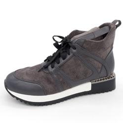 Зимние высокие кроссовки LICCI B453-H2493-4 Серый