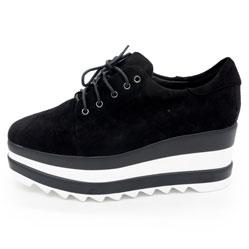 Кроссовки на платформе LICCI B431-M2364-2 черный замш