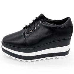 Кроссовки на платформе LICCI B431-M2364-1 черный кожа
