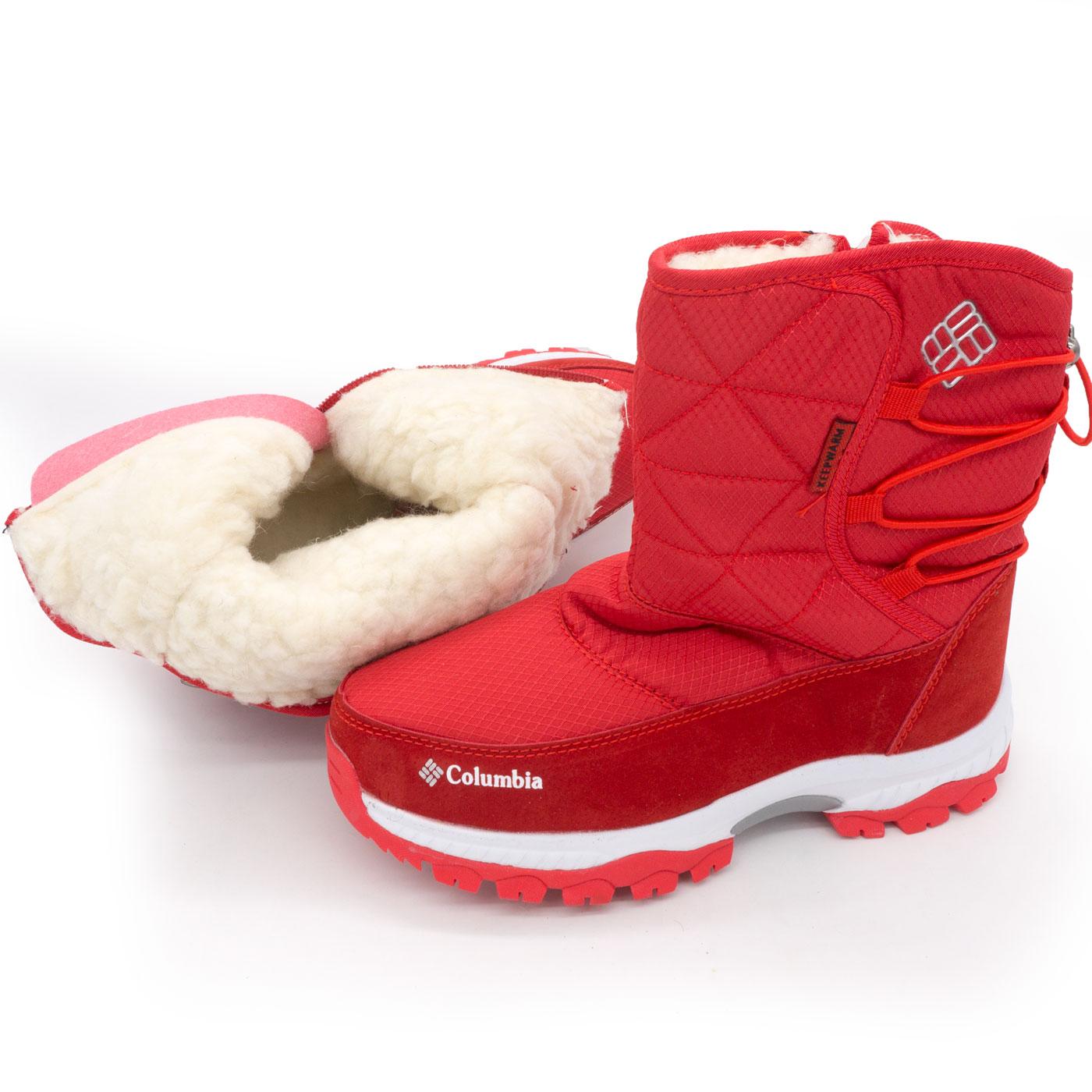 фото main Зимние женские красные дутики с мехом Columbia main