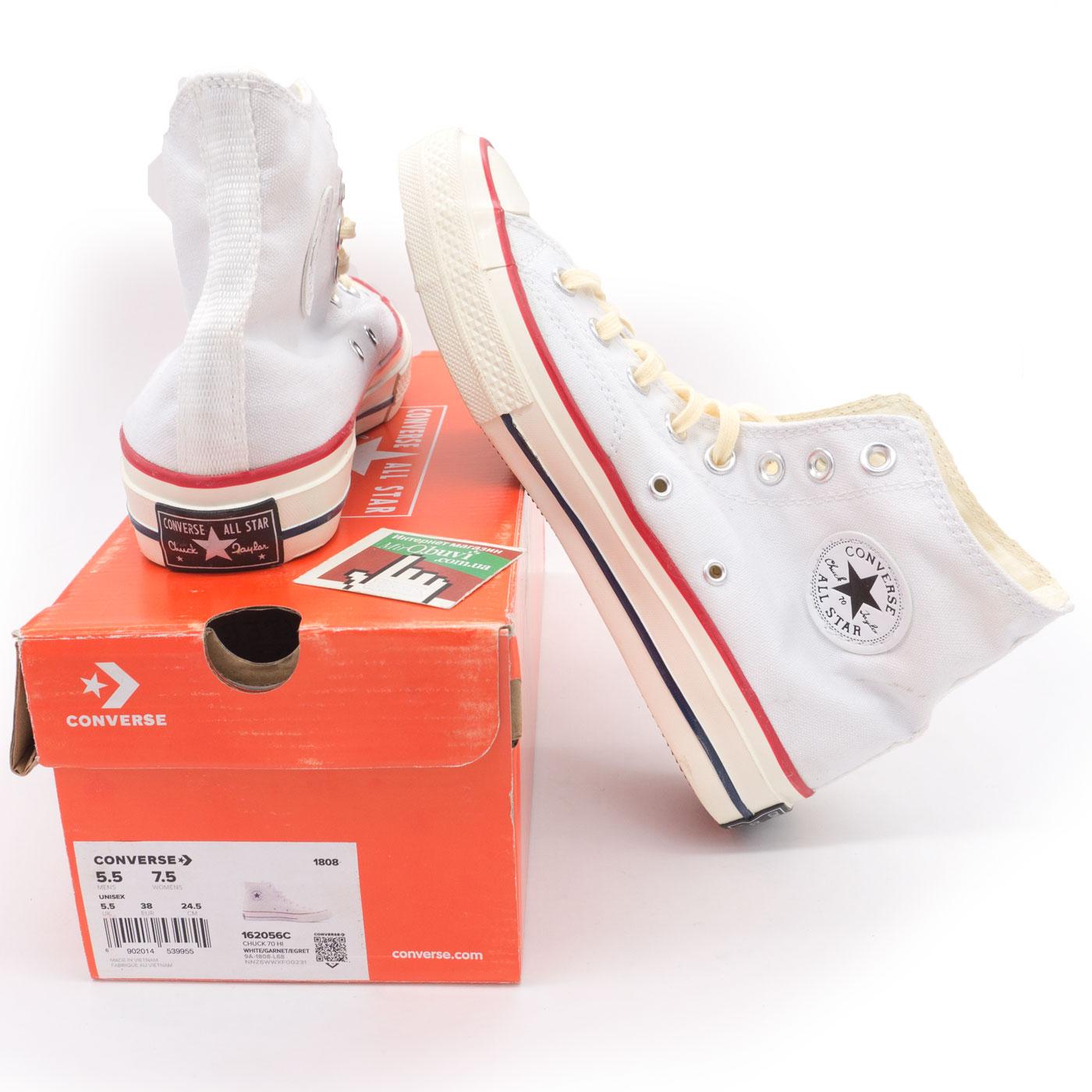 фото main Кеды Converse Chuck 70 высокие бело-бежевые - Топ качество! main
