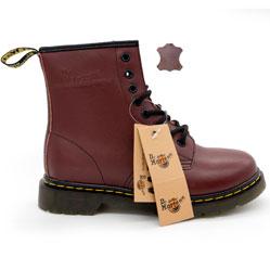 Коричневые женские ботинки в Dr. Martens, натуральная кожа - Топ качество!