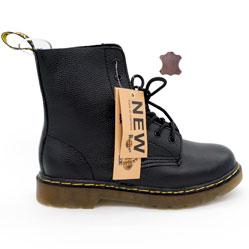 Черные женские ботинки в Dr. Martens, натуральная кожа - Топ качество!
