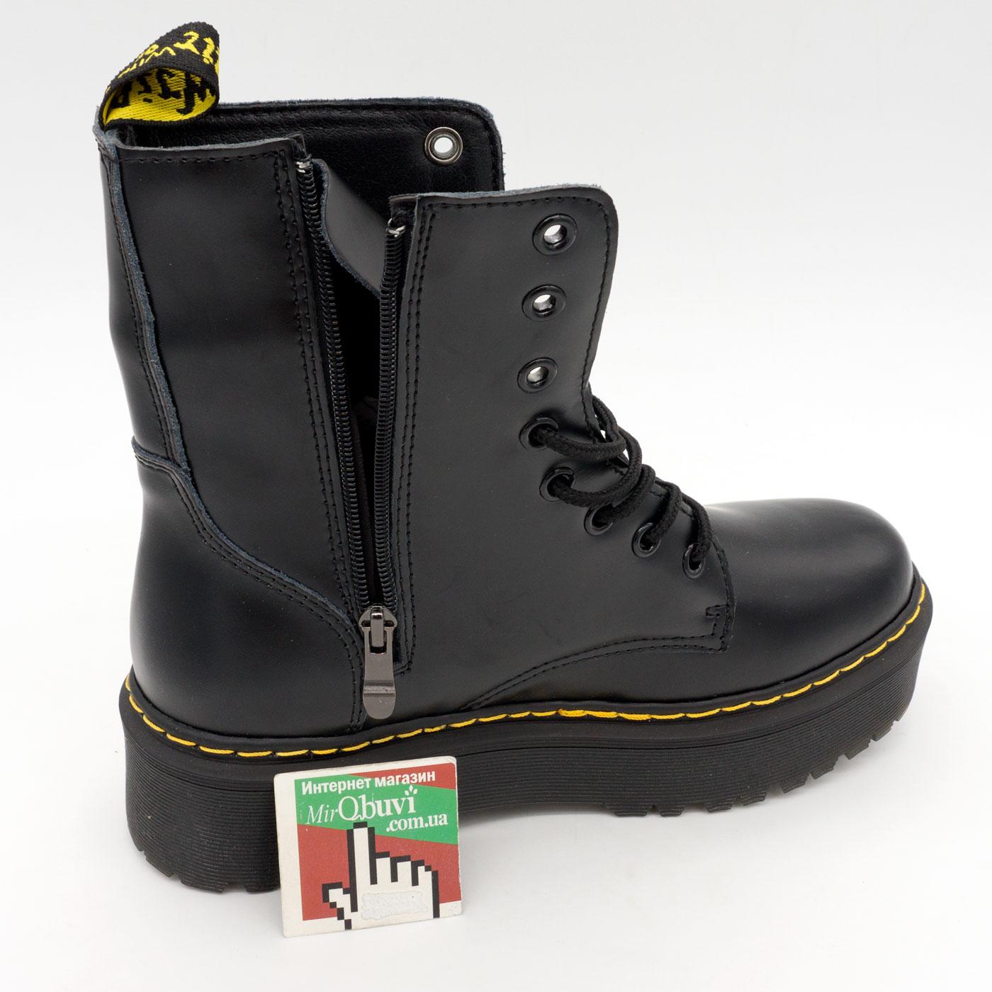 фото back Черные женские ботинки в Dr. Martens на платформе, натуральная кожа - Топ качество! back