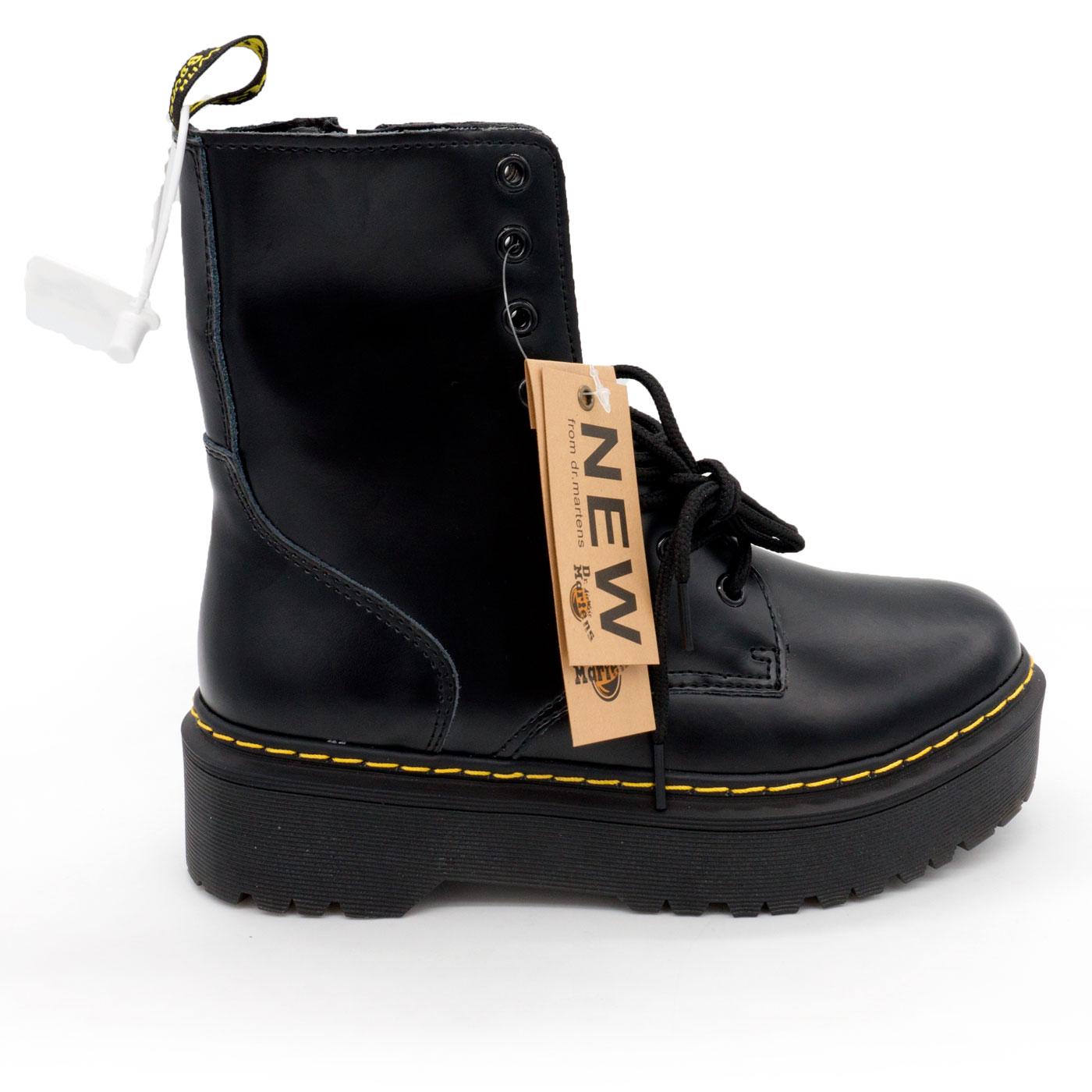 фото main Черные женские ботинки в Dr. Martens на платформе, натуральная кожа - Топ качество! main